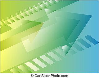 Forward moving arrows pointing right, design illustration