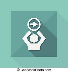 Forward service button - Vector web icon
