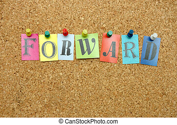 Forward pinned on noticeboard