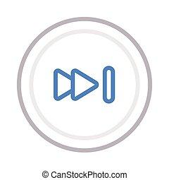 forward thin color line vector icon