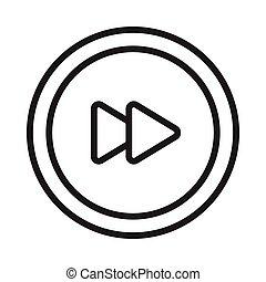 forward thin line vector icon