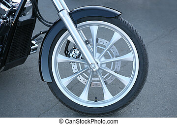 forward wheel motorcycle - forward wheel of big powerful...