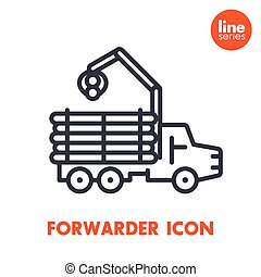 Forwarder line icon isolated over white