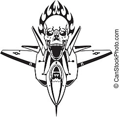 forza, -, ci, aria, militare, design.