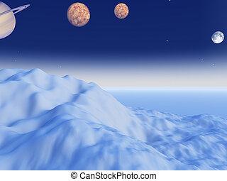 Forzen planet