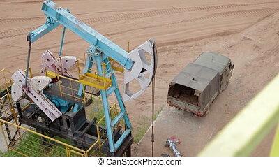 Fossil Fuel Energy, Oil Pump, Pumpjack, Old Pumping Unit, Jack Pum