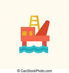 Fossil Fuel Flat Icon - Fossil Fuel. Ecology Icon. Flat...