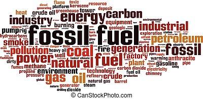 Fossil fuel-horizon - Fossil fuel word cloud concept. Vector...