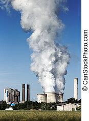 Brown coal fuel power station emission