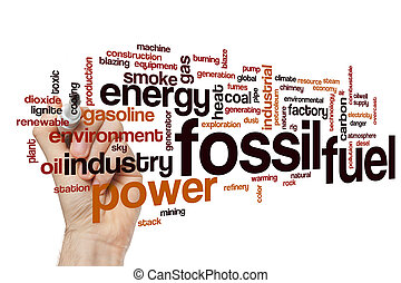 Fossil fuel word cloud concept