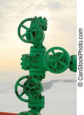 Fossile fule - methane gas - Fossile gas - methane - pipe...