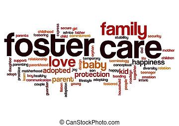 Foster care word cloud