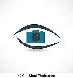 fotógrafo, abstração, operação, ícone