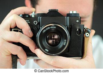 fotógrafo, câmera