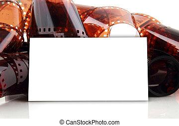 fotógrafo, cartão negócio