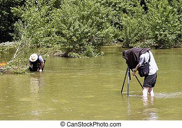 fotógrafo, em, natureza