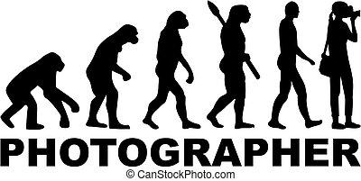 fotógrafo, evolução, trabalho, femininas, título