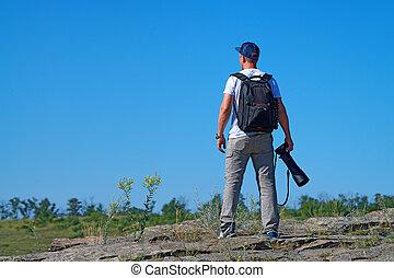 fotógrafo, fauna, Ao ar livre