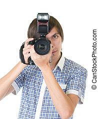 fotógrafo, homem jovem