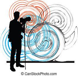 fotógrafo, ilustración