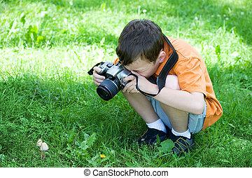 fotógrafo, jovem