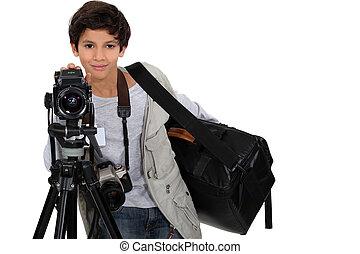 fotógrafo, joven