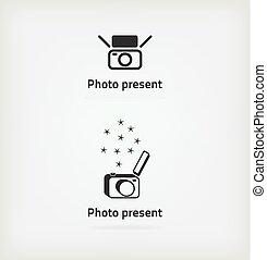 fotógrafo, símbolo, criativo