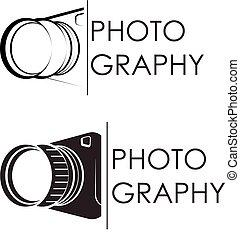 fotógrafo, símbolo, vetorial