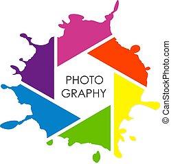 fotógrafo, vetorial, desenho