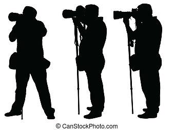 fotógrafos, monopod