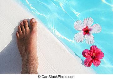 fot, blomningen