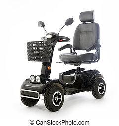 fot, mobilitás, roller, emberek, öregedő, motorizált