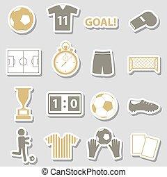 fotbal football, jednoduchý, čerň, prasečkář, dát, eps10