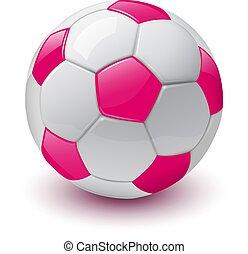 fotboll, 3, boll, ikon