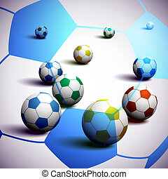 fotboll, afrika, syd, bakgrund, klumpa ihop sig