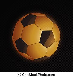 fotboll bal, guld