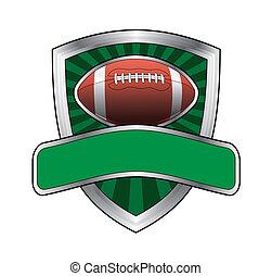 fotboll, design, skydda, brista