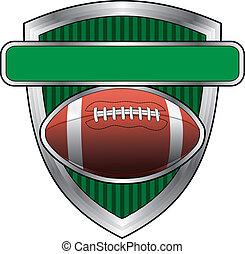 fotboll, design, skydda