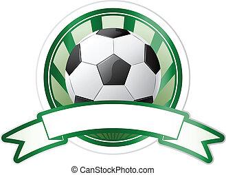 fotboll, emblem