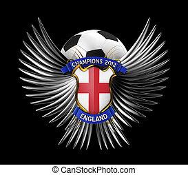 fotboll, england, boll