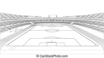 fotboll, fotboll, stadion