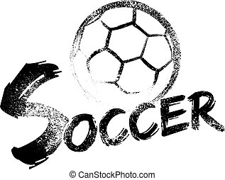 fotboll, grunge, strimmor