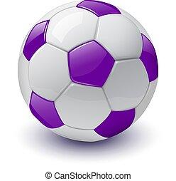 fotboll, ikon, boll, 3