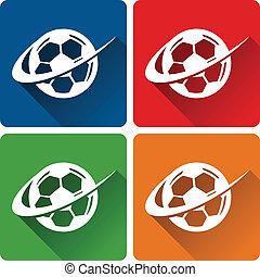 fotboll, ikonen