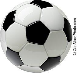 fotboll, isolerat, boll