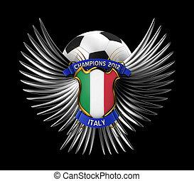 fotboll, italien, boll