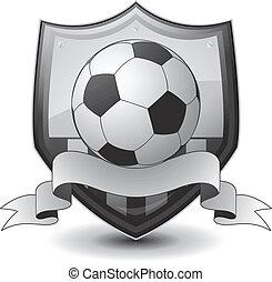 fotboll, logo, emblem