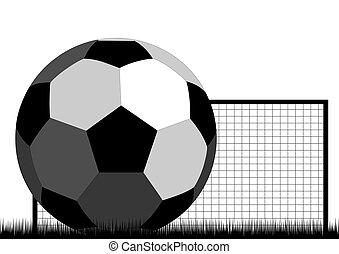 fotboll mål, boll