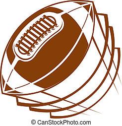 fotboll, rugby, flygning, luft, boll, genom, eller
