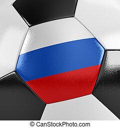 fotboll, ryssland, boll